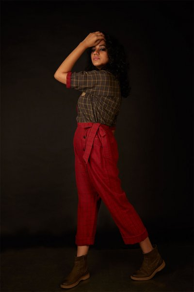 SLOUCHY PANTS-RED