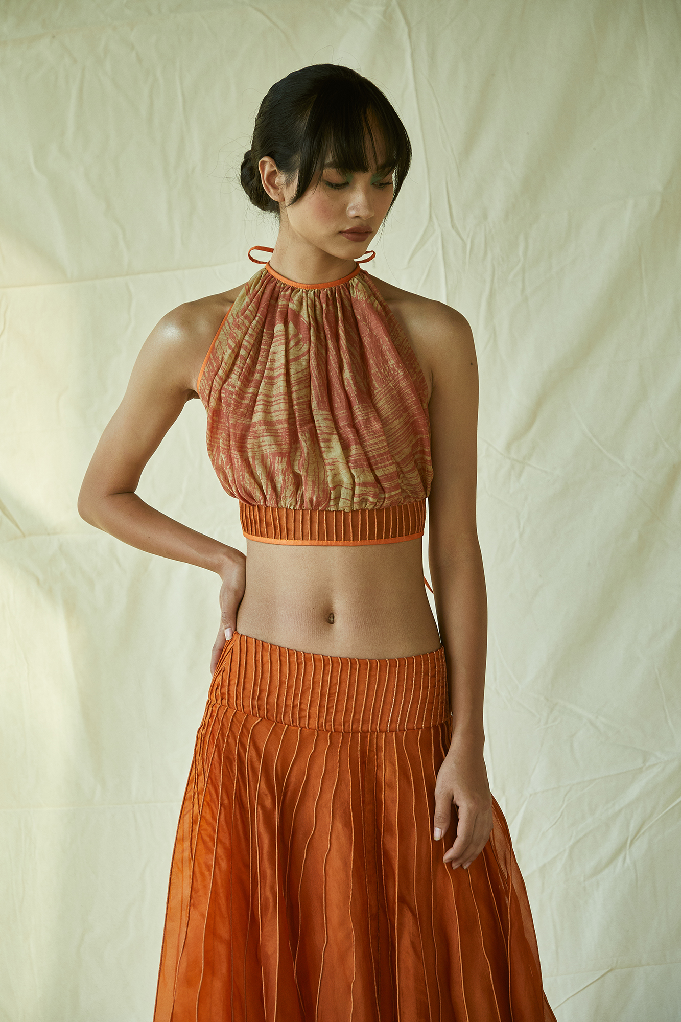BATIK HALTER TOP RUST