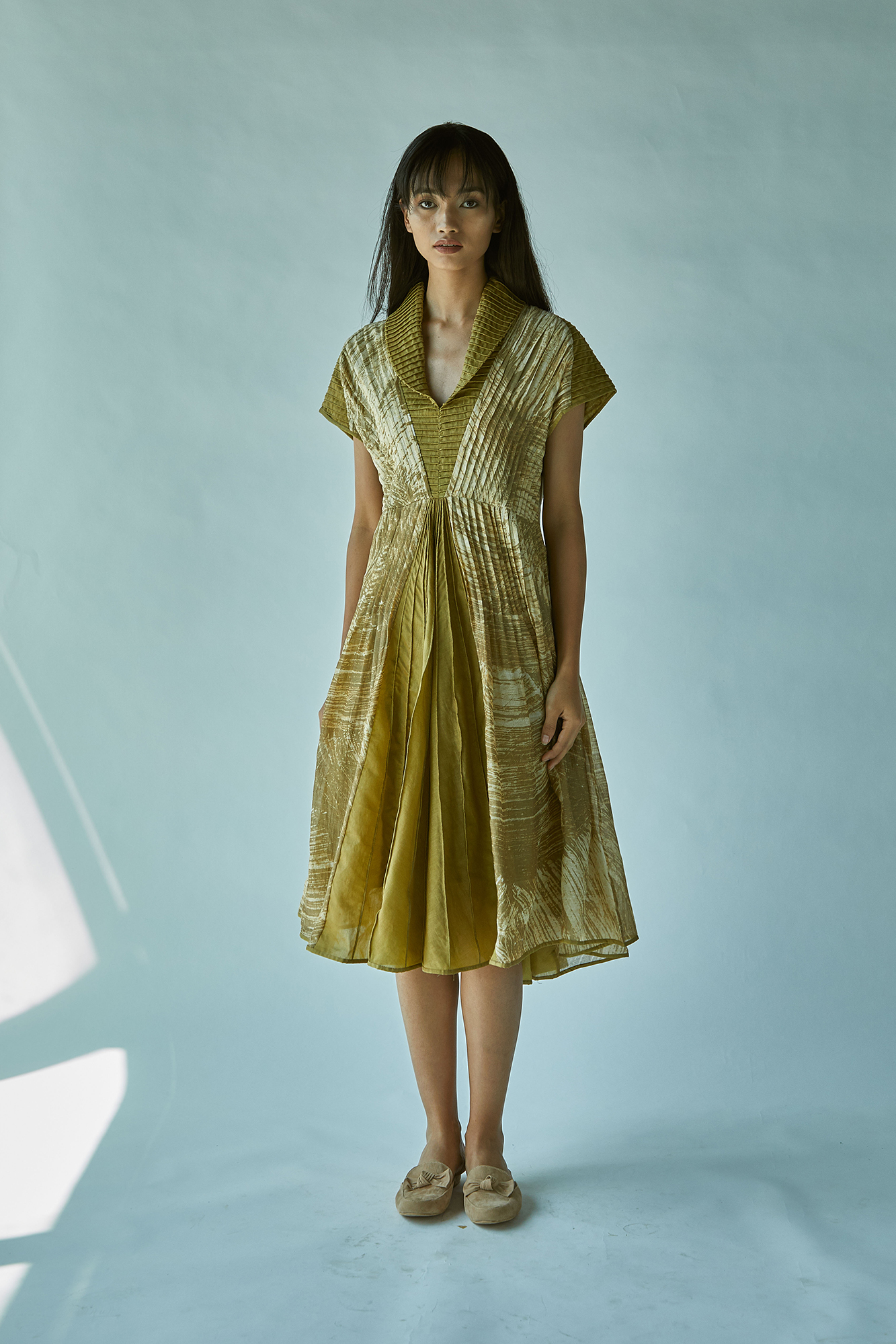 CORDED COLLAR BATIK DRESS