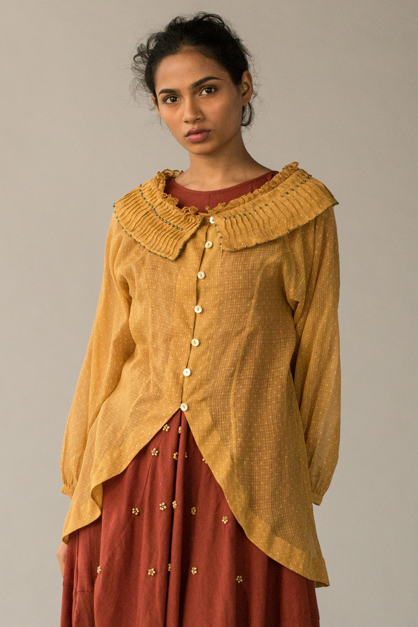 MUSTARD YELLOW CAPE