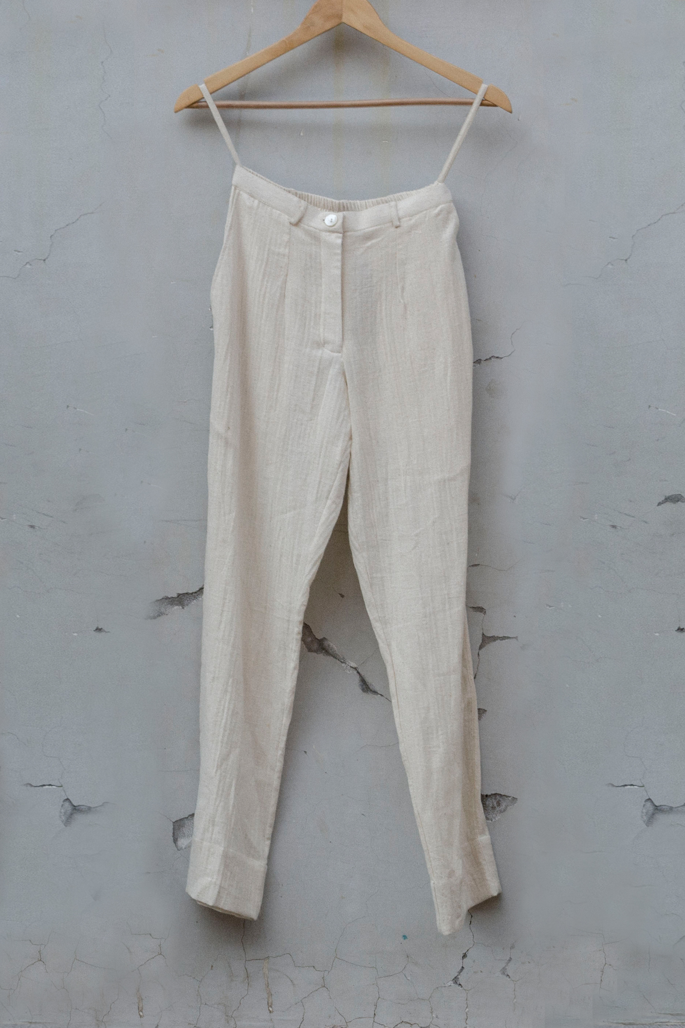 PENCIL PANTS-OFF WHITE