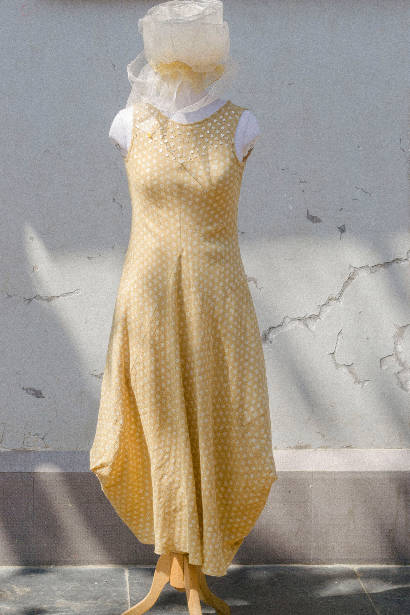 SLEEVELESS COWL DRESS