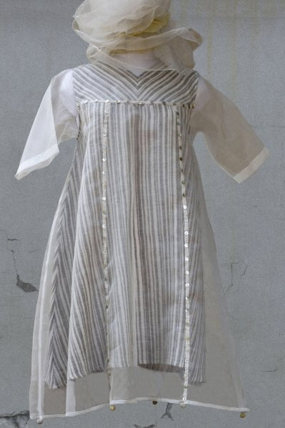 STRIPED ORGANZA TUNIC