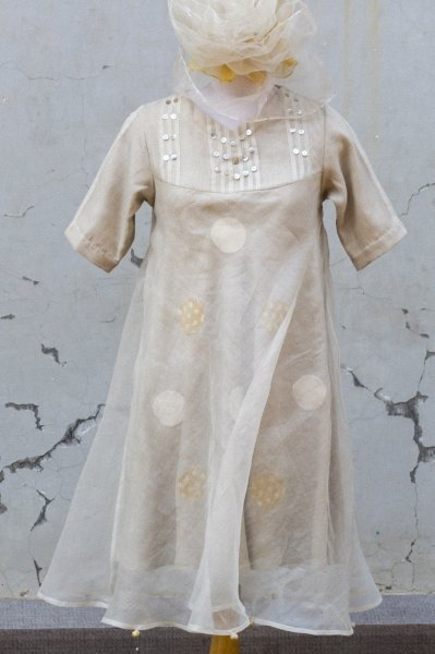 TEA COLOURED ORGANZA TUNIC